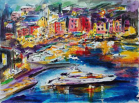 Ginette Callaway - Evening in Portofino Italy Super Yacht Travel