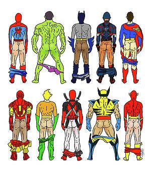 Superhero Butts by Notsniw Art