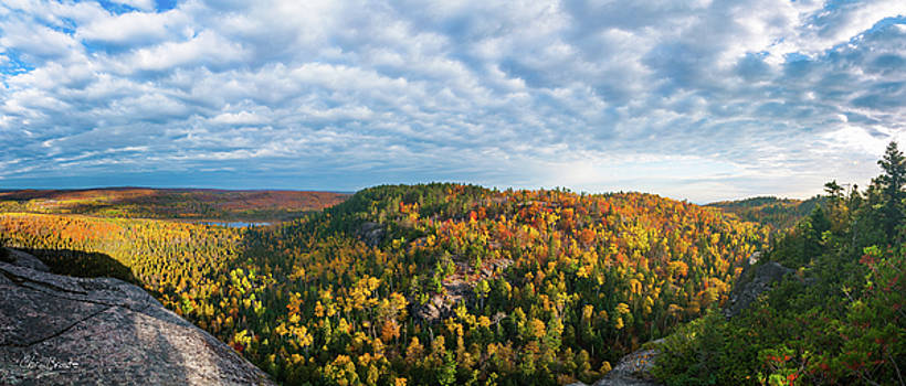 Superior Hiking Trail View in Fall by Christopher Broste