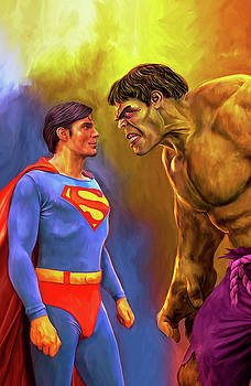 Superman vs The Hulk by Mark Spears