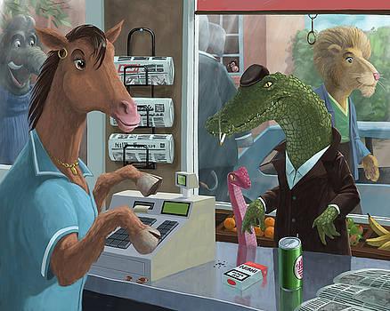 Martin Davey - supermarket horse serving