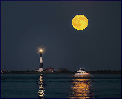 SuperMoon at the Lighthouse by Joseph Pellicone