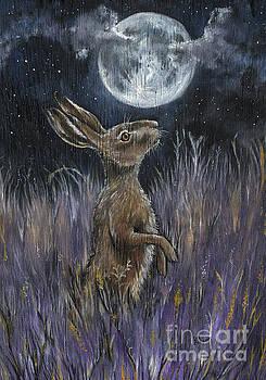 Supermoon Hare by Angel Ciesniarska