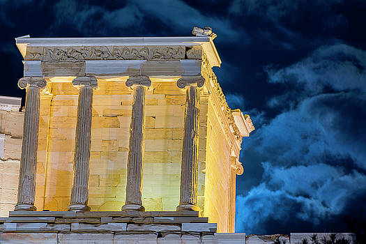 Supermoon in Acropolis by Nikos Stavrakas
