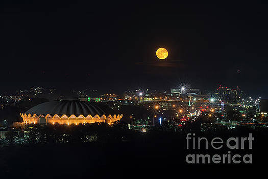 Dan Friend - Supermoon over Morgantown on Evansdale Campus