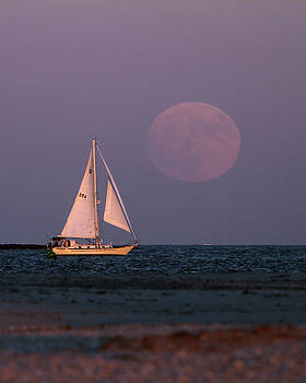 Supermoon two by John Loreaux