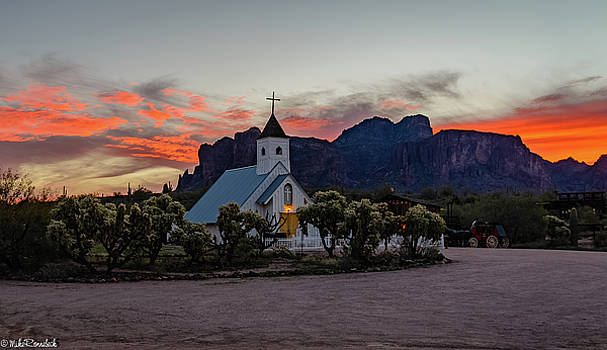 Superstition Sunrise II by Mike Ronnebeck