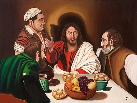 Supper-after Caravaggio by Marilyn  Comparetto
