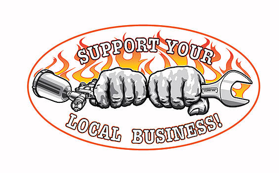 Support your local business T-Shirts by Evgeny Lutsko
