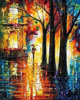 Suppressed Memories - PALETTE KNIFE Oil Painting On Canvas By Leonid Afremov by Leonid Afremov