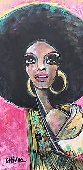 Supreme Love for Diana Ross by Laurie Maves ART