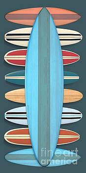 Surf Boards 5 by Edward Fielding