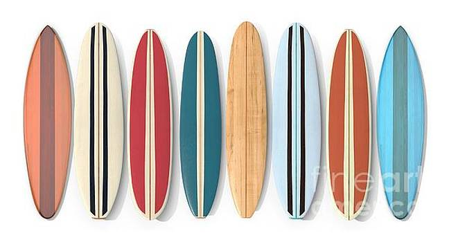 Surf Boards Row by Edward Fielding