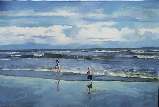 Surf Chasing Children by Anne Lattimore