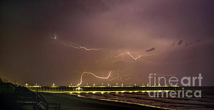 Surf City Lightning by DJA Images