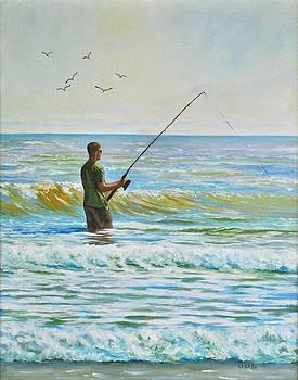 Surf Fishing on The Islands by Darla Brock