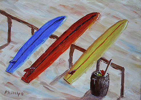 Surfboards 3 by Bob Phillips