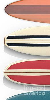 Surfboards Cell Phone Case by Edward Fielding