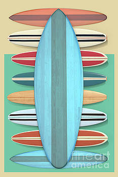 Surfboards Green Blue Design by Edward Fielding