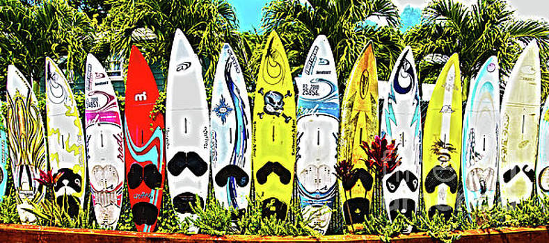 Surfboards in Paia Maui Hawaii in HDR by ELITE IMAGE photography By Chad McDermott