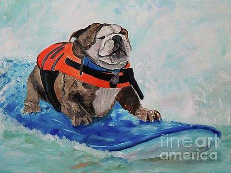 Surfer Dog by Frankie Picasso