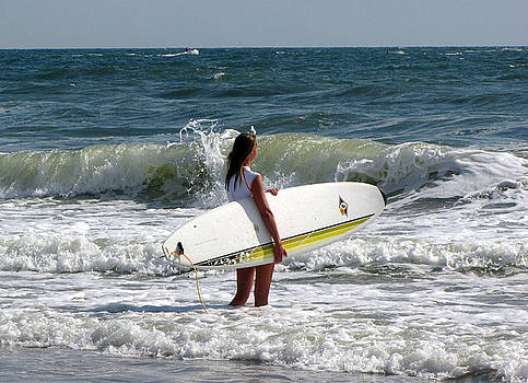 Surfer Girl at Virginia Beach by Janice Paige Chow