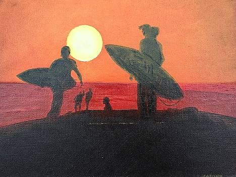 Surfer Sunset by John Latterner