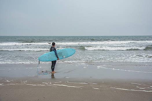 Surfer Waits by Dennis Clark