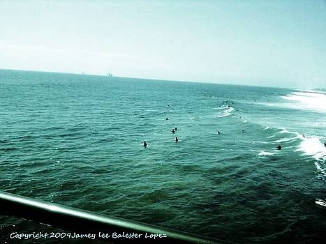Surfers Huntington Beach by Jamey Balester