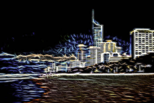 Surfers Paradise Aglow by Chris Hood