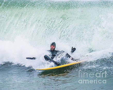 Surfing Narragansett 15 by Steven Natanson