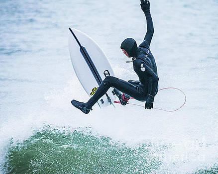 Surfing Narragansett 23 by Steven Natanson