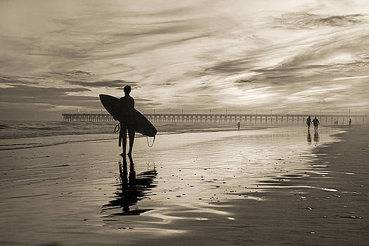 Surfing the Shadows of Light Sepia by Betsy Knapp