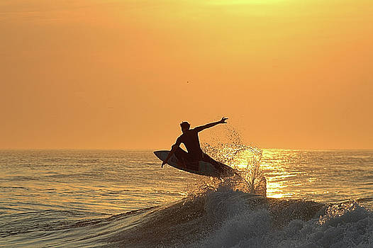 Surfing To The Sky by Robert Banach