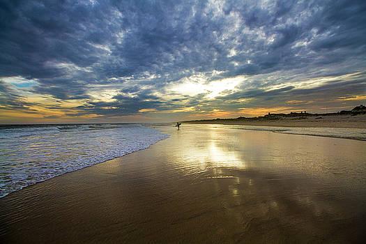 Surf's Up at Rogers Beach by Robert Seifert