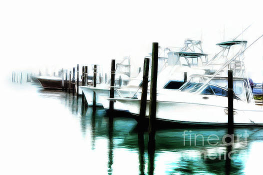 Dan Carmichael - Surreal Fishing Boats in Outer Banks Marina AP