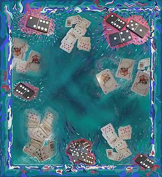 Surreal Lake Art and Poem by Julia Woodman