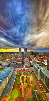 Surreal Tulsa Sunrise Storm by David Bouchard