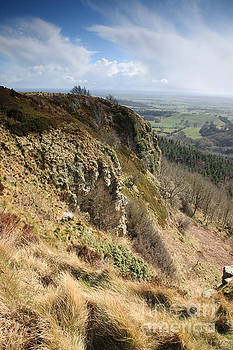 Sutton Bank and blue sky by Deborah Benbrook