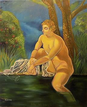 Suzanna Bathing In The Moonlight. by John Keaton