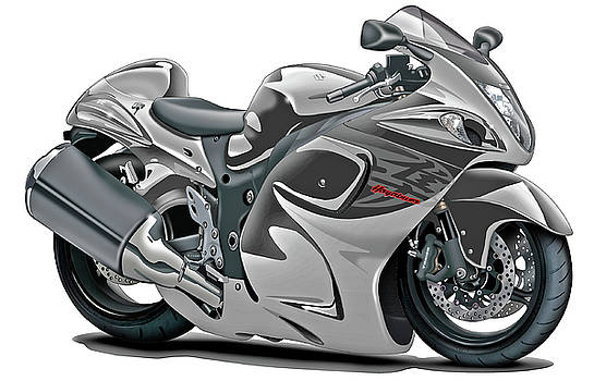 Suzuki Hayabusa Grey Bike by Maddmax