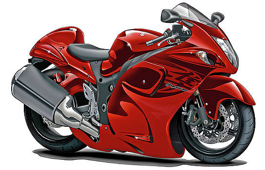 Suzuki Hayabusa Red Bike by Maddmax