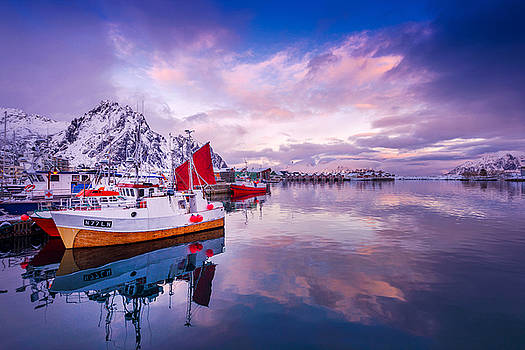 Svolvaer Harbor by Philippe Sainte-Laudy