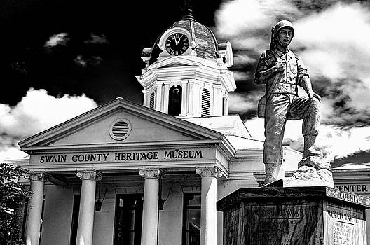 Swain County Heritage Museum Bryson City Nc II In Black And White by Carol Montoya