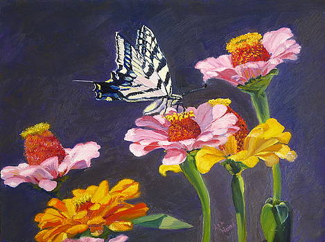 Lea Novak - Swallowtail Butterfly on Flowers
