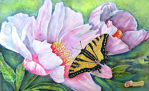 Swallowtail on Peony by Norma Boeckler