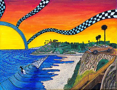 Swamis Sunset by Sam Bernal