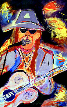 Swamp Blues Musician Coco Robichaux by Ted Hebbler
