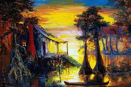 Swamp Sunset by Saundra Bolen Samuel