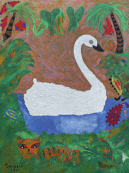 Swan Lake Side by Robyn Louisell